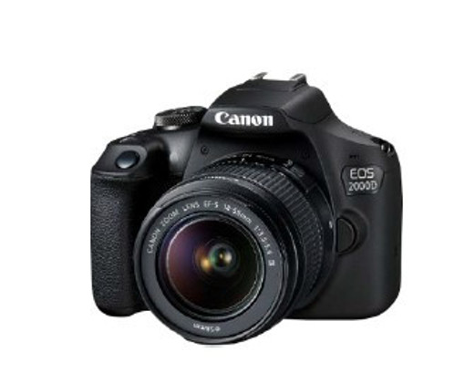 Canon EOS 2000D 18-55 DC + SB130 + 16GB Kit fotocamere SLR 24,1 MP CMOS 6000 x 4000 Pixel Nero