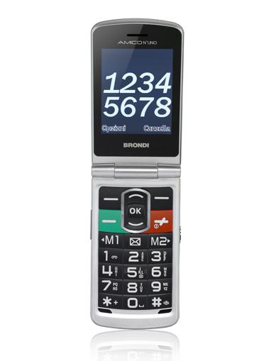 Brondi Amico N°Uno 108 g Argento Telefono per anziani