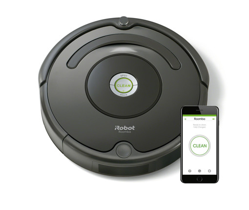 iRobot Roomba 676 aspirapolvere robot 0,6 L Senza sacchetto Nero