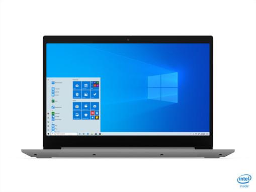 """Lenovo IdeaPad 3 Computer portatile 39,6 cm (15.6"""") 1920 x 1080 Pixel Intel® Core™ i3 di decima generazione 8 GB DDR4-SDRAM 256 GB SSD Wi-Fi 5 (802.11ac) Windows 10 Home S Grigio, Platino"""