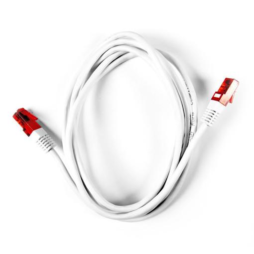 Ekon Cat 5e cavo di rete Rosso/bianco 2 m Cat5e U/UTP (UTP)