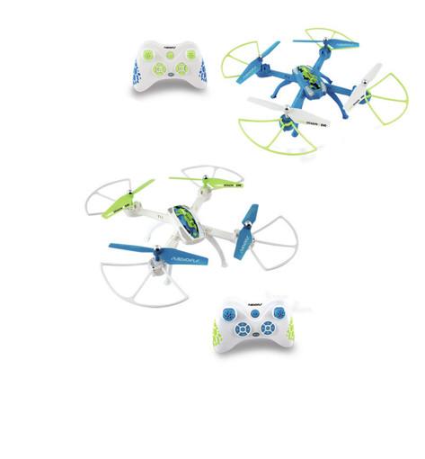 Radiofly SPACE DRAGON // EVO 4 rotori Quadrirotore 0,3 MP 450 mAh Blu, Verde, Bianco