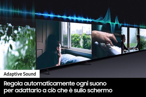 """Samsung TV QLED 4K 65"""" QE65Q70A Smart TV Wi-Fi Titan Gray 2021"""
