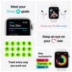 Apple Watch Nike SE GPS + Cellular, 44mm in alluminio argento con cinturino Sport Nike Platino/Nero
