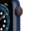 Apple Watch Serie 6 GPS + Cellular, 40mm in alluminio azzurro con cinturino Sport Deep navy