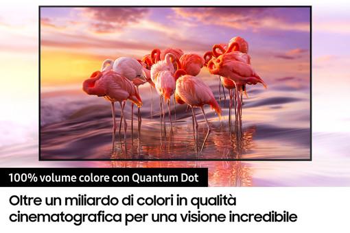 """Samsung TV QLED 4K 75"""" QE75Q70A Smart TV Wi-Fi Titan Gray 2021"""