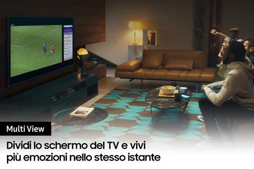 """Samsung TV QLED 4K 55"""" QE55Q70A Smart TV Wi-Fi Titan Gray 2021"""