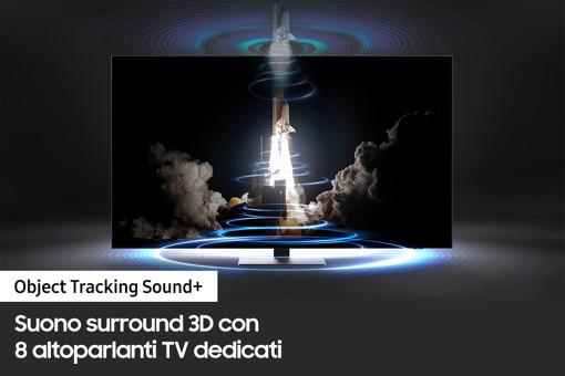 "Samsung TV Neo QLED 4K 55"" QE55QN85A Smart TV Wi-Fi Eclipse Silver 2021"