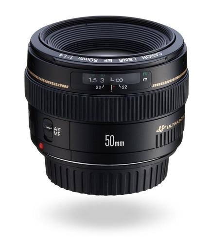 Canon EF 50mm 1:1,4 USM SLR Obiettivi standard Nero