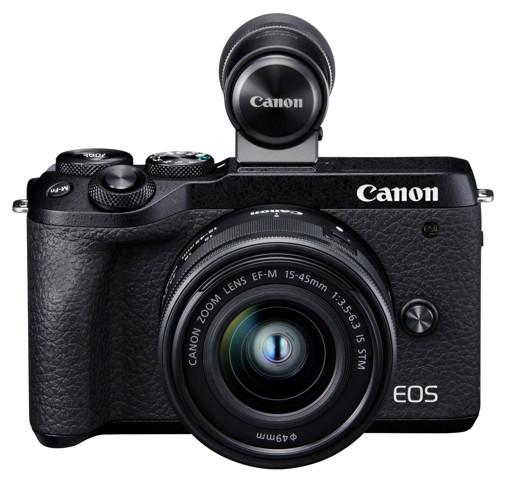 Canon EOS M6 Mark II + EF-M15-45mm + EVF-DC2 Kit fotocamere SLR 32,5 MP CMOS 6960 x 4640 Pixel Nero