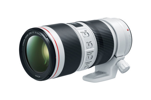 Canon EF 70-200mm f/4L IS II USM SLR Teleobiettivo zoom Nero, Bianco
