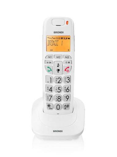 Brondi Bravo Bright Telefono DECT Identificatore di chiamata Bianco