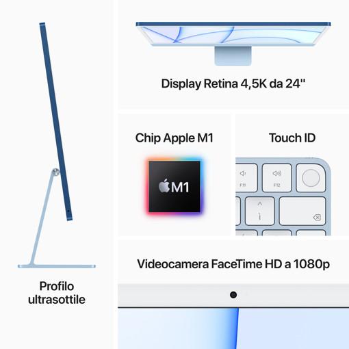 """Apple iMac 24"""" con display Retina 4.5K (Chip M1 con GPU 8-core, 512GB SSD) - Verde (2021)"""