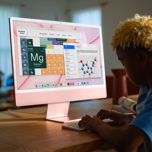 "Apple iMac 24"" con display Retina 4.5K (Chip M1 con GPU 8-core, 512GB SSD) - Blu (2021)"