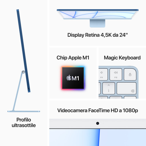 """Apple iMac 24"""" con display Retina 4.5K (Chip M1 con GPU 7-core, 256GB SSD) - Rosa (2021)"""