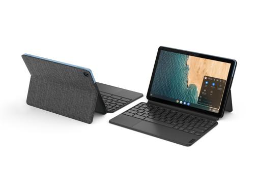 "Lenovo IdeaPad Duet Chromebook LPDDR4x-SDRAM Ibrido (2 in 1) 25,6 cm (10.1"") 1920 x 1200 Pixel Touch screen MediaTek 4 GB 64 GB Flash Wi-Fi 5 (802.11ac) Chrome OS Blu, Grigio"