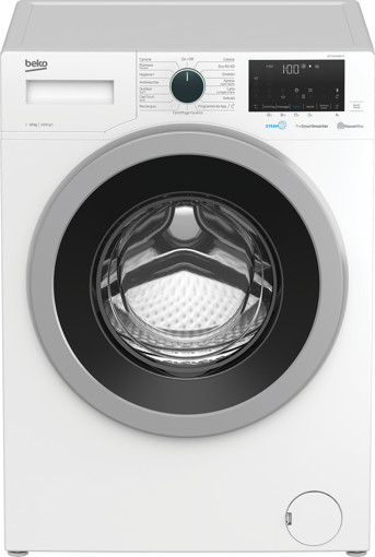 Beko WTY101486SI-IT lavatrice Libera installazione Caricamento frontale 10 kg 1400 Giri/min A Bianco