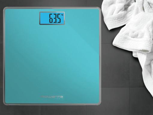 Rowenta Classic BS1503 Quadrato Turchese Bilancia pesapersone elettronica