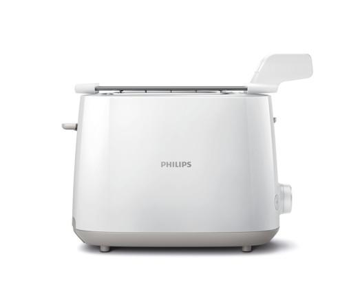 Philips Daily Collection Tostapane con griglia scaldabrioche HD2583/00, 8 impostazioni, vassoio raccogli briciole