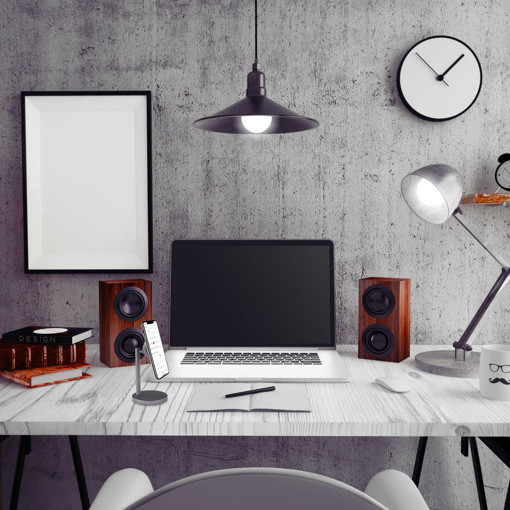 Celly Ghost Desk Supporto passivo Lettore MP3, Telefono cellulare/smartphone Nero