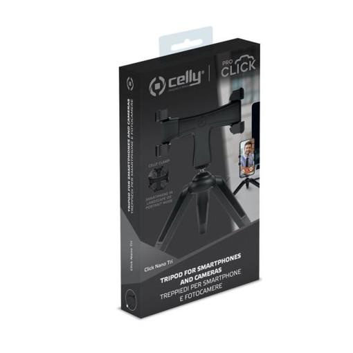 Celly CLICKNANOTRIBK treppiede Smartphone/Tablet 3 gamba/gambe Nero