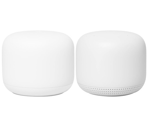 Google Nest Wifi, Router and Point 2-pack router wireless Gigabit Ethernet Dual-band (2.4 GHz/5 GHz) Bianco