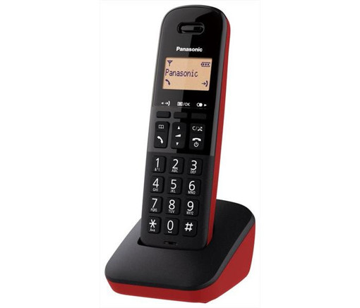 Panasonic KX-TGB610JTR telefono Telefono analogico/DECT Identificatore di chiamata Nero, Rosso