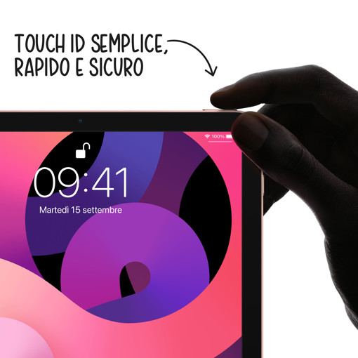 "Apple iPad Air 10.9"" (quarta gen.) Wi-Fi 64GB - Argento"
