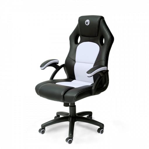 NACON PCCH-310 Sedia per gaming universale Sedia imbottita tappezzata Nero, Bianco