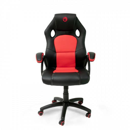 NACON PCCH-310 Sedia per gaming universale Sedia imbottita tappezzata Nero, Rosso