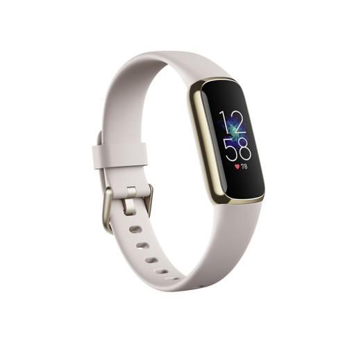 Fitbit Luxe AMOLED Braccialetto per rilevamento di attività Oro, Bianco