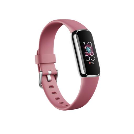 Fitbit Luxe AMOLED Braccialetto per rilevamento di attività Rosa, Platino
