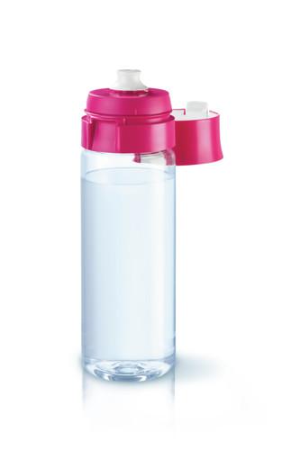 Brita Fill&Go Bottle Filtr Pink Bottiglia per filtrare l'acqua Rosa, Trasparente
