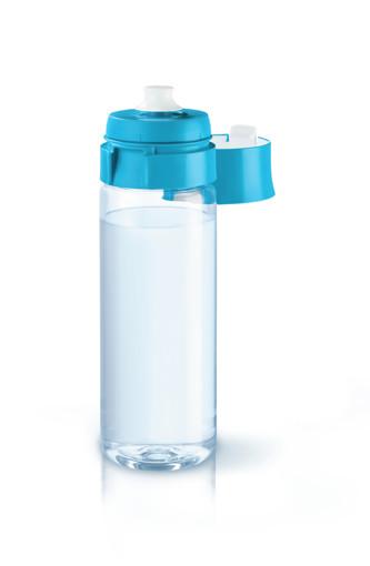 Brita Fill&Go Bottle Filtr Blue Bottiglia per filtrare l'acqua Blu, Trasparente