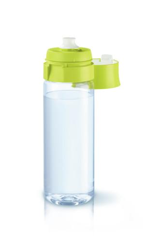 Brita Fill&Go Bottle Filtr Lime Bottiglia per filtrare l'acqua Lime, Trasparente