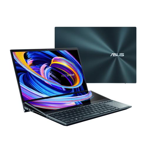 """ASUS ZenBook Pro Duo 15 OLED UX582LR-H2002R DDR4-SDRAM Computer portatile 39,6 cm (15.6"""") 3840 x 2160 Pixel Touch screen Intel® Core™ i9 di decima generazione 32 GB 1000 GB SSD NVIDIA GeForce RTX 3070 Wi-Fi 6 (802.11ax) Windows 10 Pro Blu"""