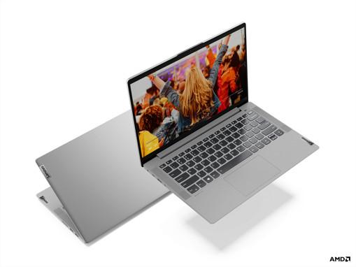 "Lenovo IdeaPad 5 DDR4-SDRAM Computer portatile 35,6 cm (14"") 1920 x 1080 Pixel AMD Ryzen 7 16 GB 512 GB SSD Wi-Fi 6 (802.11ax) Windows 10 Home Grigio, Platino"