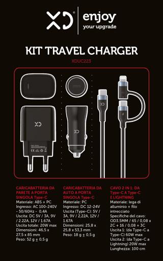XD XDUC223 Caricabatterie per dispositivi mobili Nero Auto, Interno