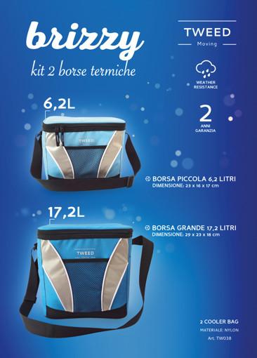 TWEED Brizzy borsa termica Nero, Blu, Argento