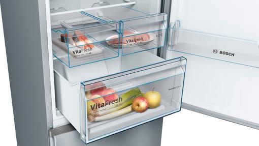 Bosch Serie 4 KGN39VIDA frigorifero con congelatore Libera installazione 368 L D Acciaio inossidabile