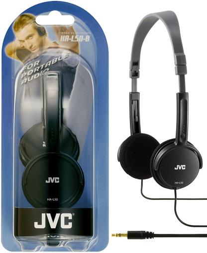 JVC HA-L50-B cuffia e auricolare Cuffie Padiglione auricolare Connettore 3.5 mm Nero