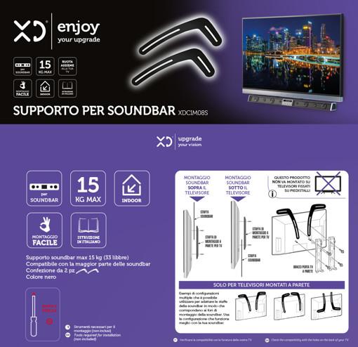 XD XDCIM08S supporto da parete per casse acustiche Staffa per TV Nero