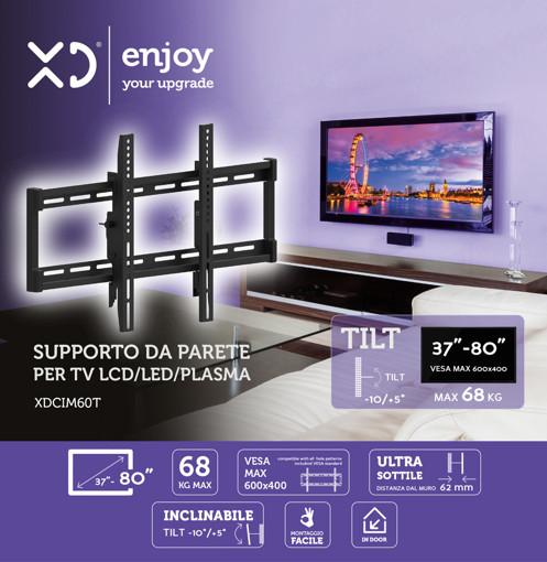 """XD XDCIM60T Supporto TV a parete 2,03 m (80"""") Nero"""