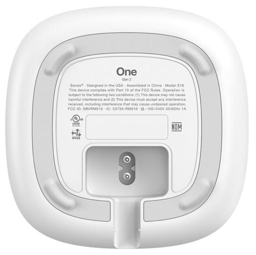 Sonos One 2nd Gen Altoparlante portatile mono Bianco