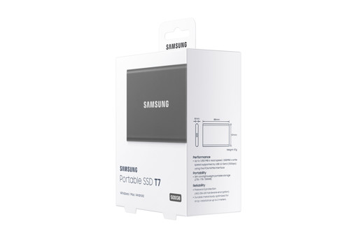 Samsung Portable SSD T7 500 GB Grigio
