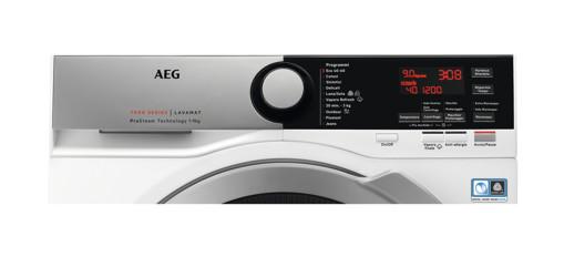 AEG L7FEE94SX lavatrice Libera installazione Caricamento frontale 9 kg 1400 Giri/min A Argento