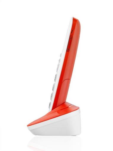 Brondi Bravo Bright Telefono DECT Identificatore di chiamata Rosso