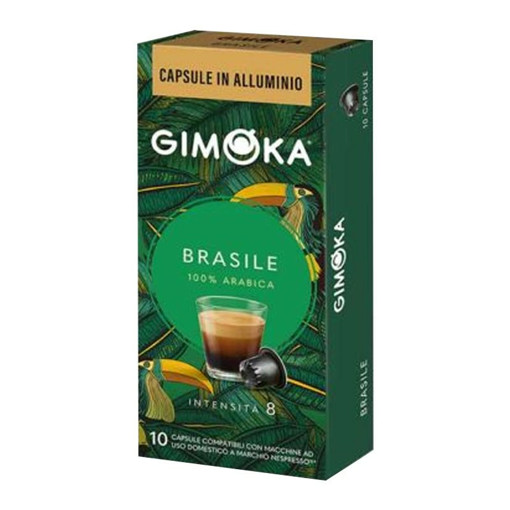 Gimoka In Alluminio Brasile Capsule caffè 10 pz