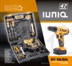 IUNIQ XDZW12K cacciavite elettrico e avvitatore a impulso 1350 Giri/min Nero, Arancione