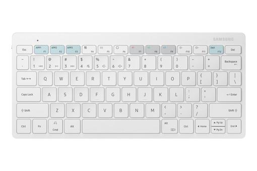 Samsung EJ-B3400 tastiera Bluetooth QWERTY Inglese Bianco